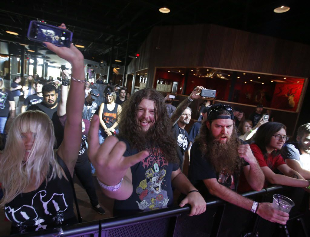 A Pantera cover band played a set at Gas Monkey Live.
