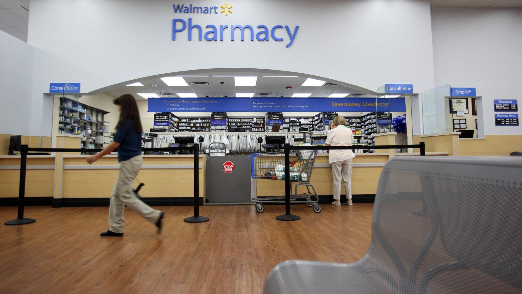La farmacia dentro de un supermercado de Wal-Mart en Plano, Texas. (DMN/VERNON BRYANT)