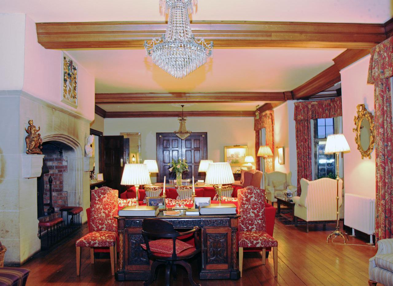 Llangoed Hall has great rooms with fireplaces and comfortable chairs, perfect for those who want to sit quietly with a good book after a long day at the Hay Festival.