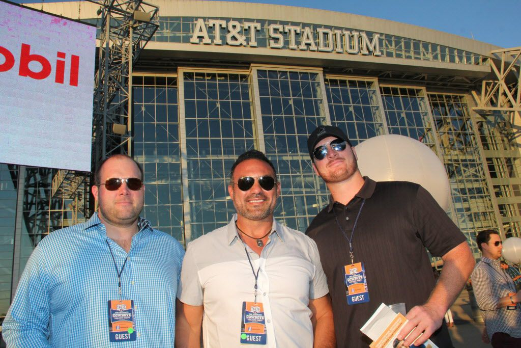 Former Dallas Cowboys players (from left) Tyson Walter, Tony Casillas and Brett Pierce at Taste of the NFL on Sunday at AT&T Stadium.