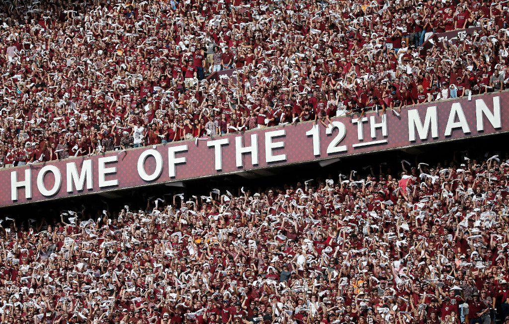 Texas A&M fans cheer for their team against Tennessee during the first quarter at Kyle Field in College Station, Texas, Saturday, Oct. 8, 2016. (Jae S. Lee/The Dallas Morning News)
