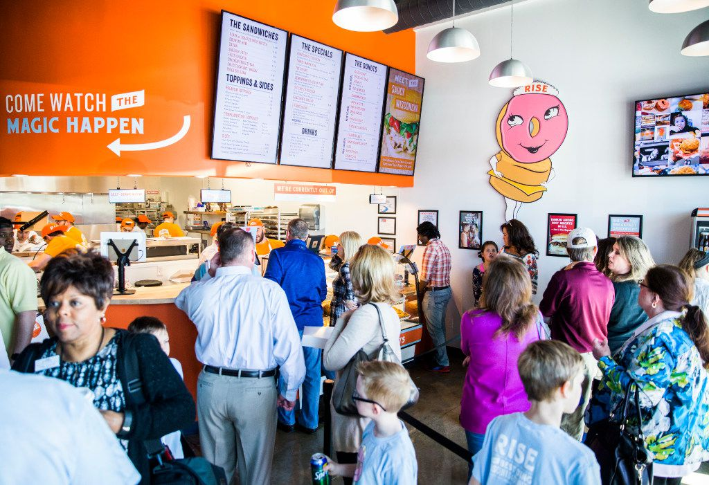 The interior of Rise Biscuits Donuts during a grand opening event at their new location in Allen, Texas on Thursday, March 30, 2017. (Ashley Landis/The Dallas Morning News)