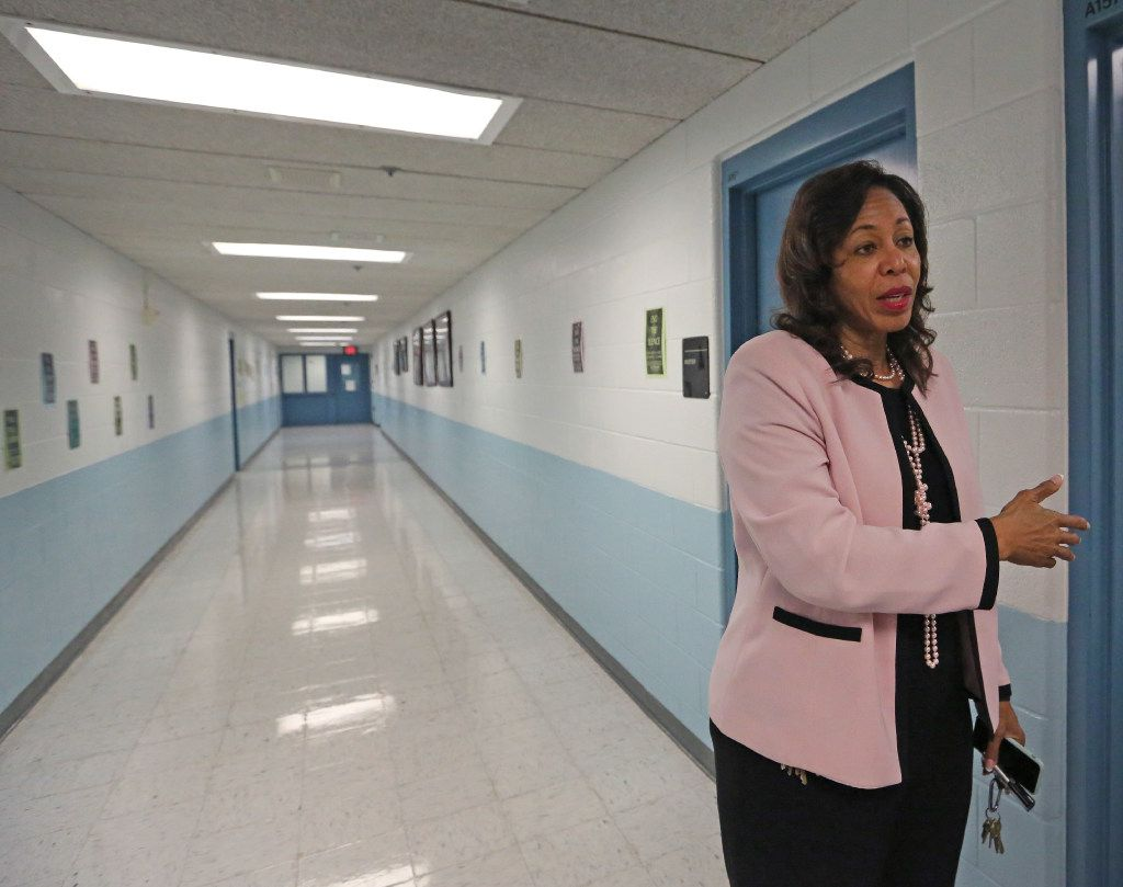 Executive Director Dr. Terry Smith talks with a reporter in the hallway of the Dr. Jerome McNeil Jr. Detention Center inside the Henry Wade  Juvenile Justice Center, Dallas County's largest juvenile detention center, photographed on Thursday, August 17, 2017. (Louis DeLuca/The Dallas Morning News)