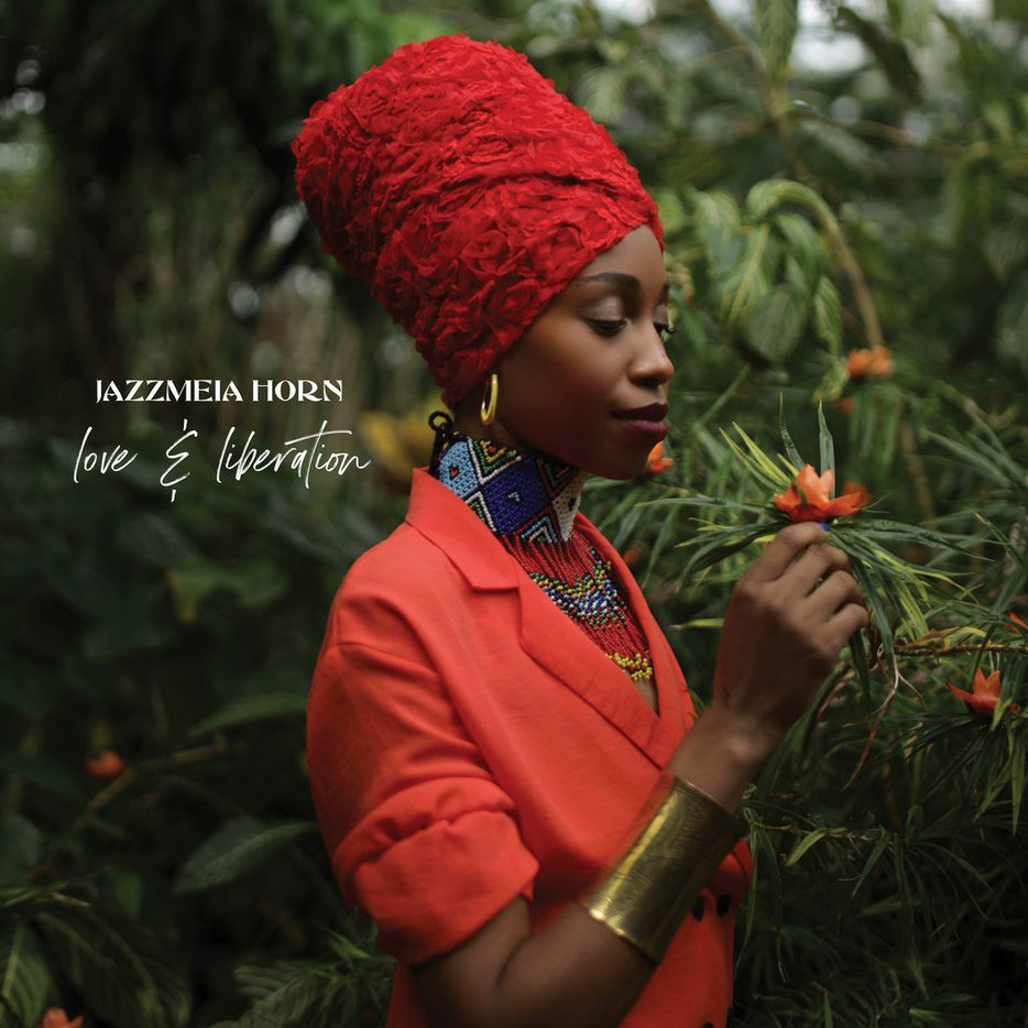 The cover of Dallas-born singer Jazzmeia Horn's second album, Love and Liberation.