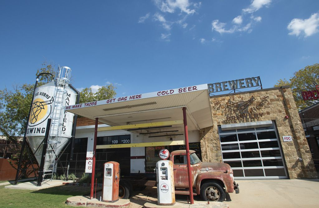 By The Horns Brewing is located in a former gas station in Mansfield.