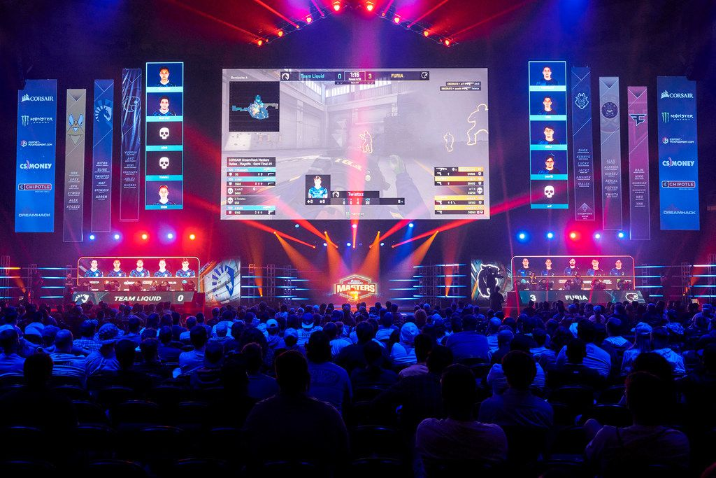 Fans watched the CORSAIR DreamHack Masters semifinals between FURIA and Team Liquid at Kay Bailey Hutchison Convention Center on June 1, 2019 in Dallas.