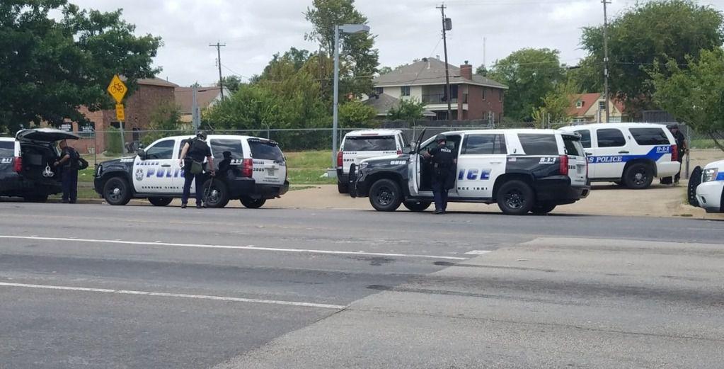 Dallas officers investigate a 2017 shooting near Fair Park.