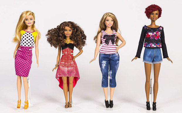 Barbie is now curvy, petite and tall. (Mattel photo)