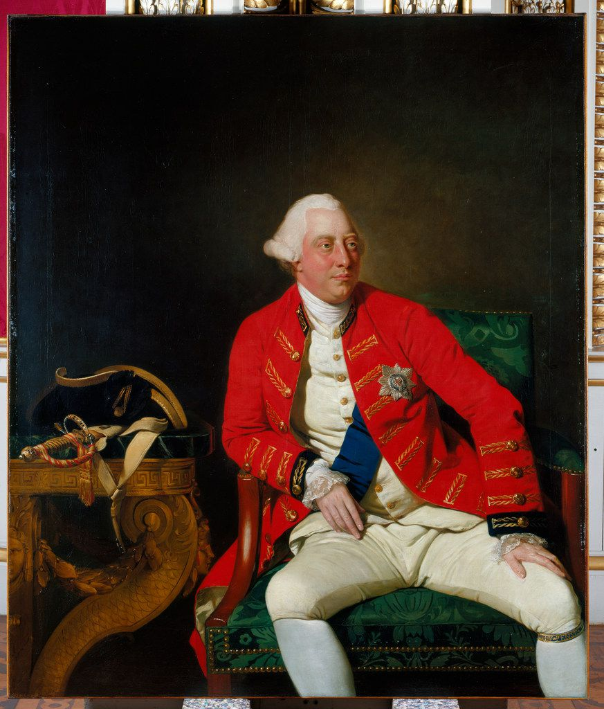 George III, by Johan Joseph Zoffany, 1771. From The British Are Coming, by Rick Atkinson.