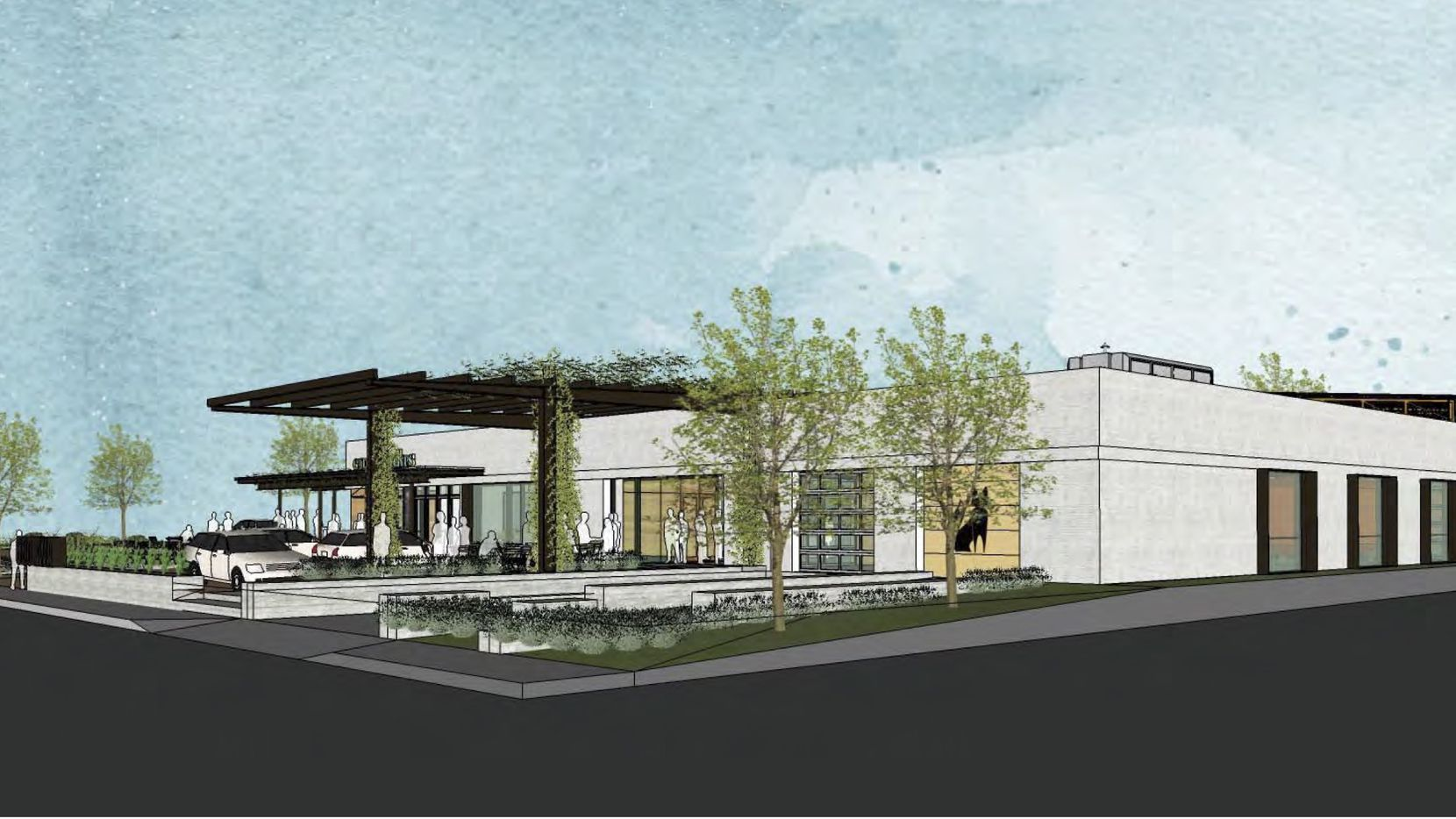 A Fort Worth Avenue industrial building will be converted to a space for multiple businesses.