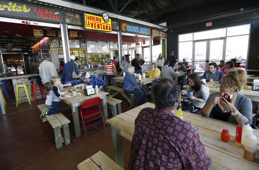 Taqueria La Ventana is one of many restaurants in the Market food hall at the Dallas Farmers Market.