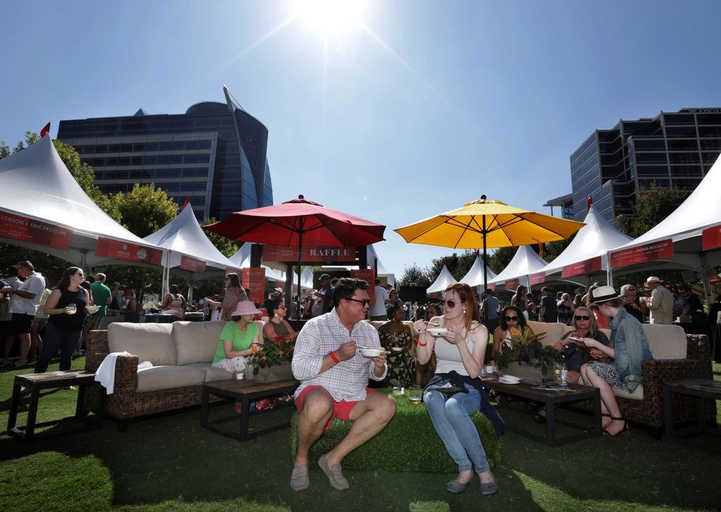Especially when the weather is nice, Klyde Warren Park is a great spot for a food festival.