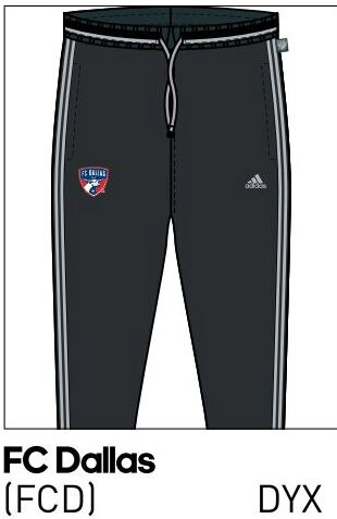 2016 FC Dallas training pants with pockets.