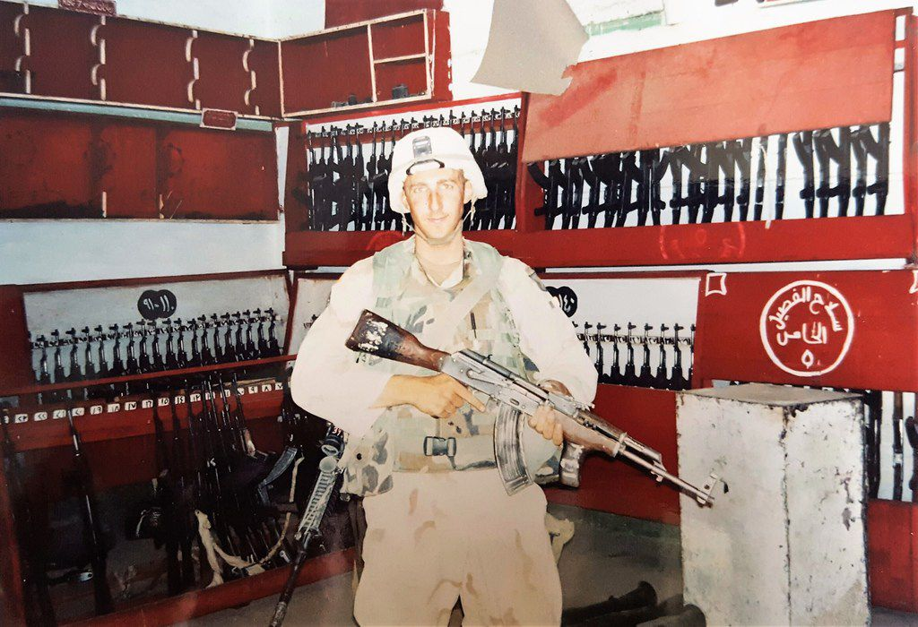 Brandon Friedman in Iraq during the war.