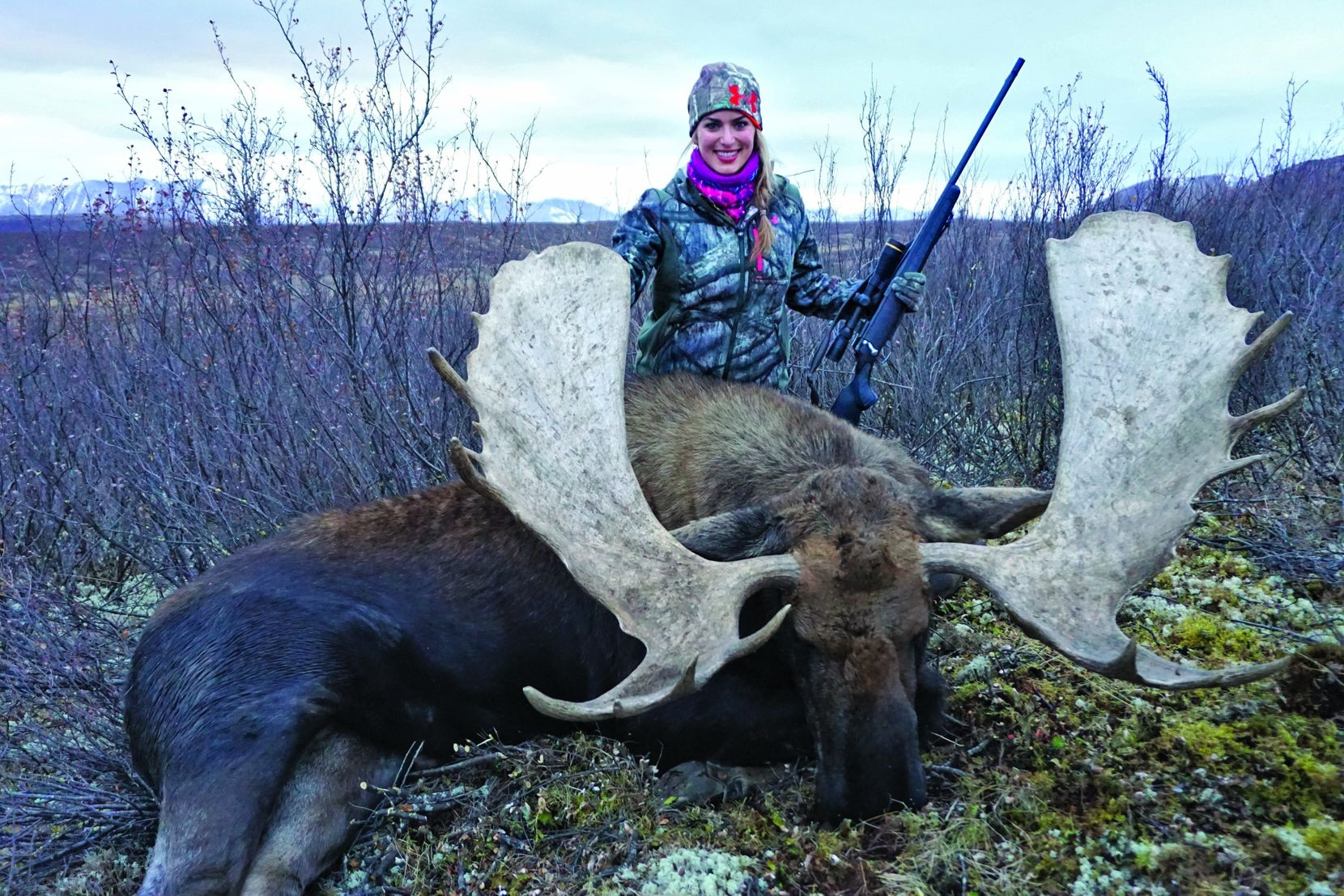 Eva Shockey's wedding guests dined on this 1,500-pound moose she killed.