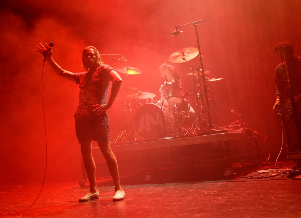 """AWOLNATION performs during the """"How The EDGE Stole Christmas"""" show at Verizon Theatre in Grand Prairie, TX, on Dec. 6, 2016. (Jason Janik/Special Contributor)"""