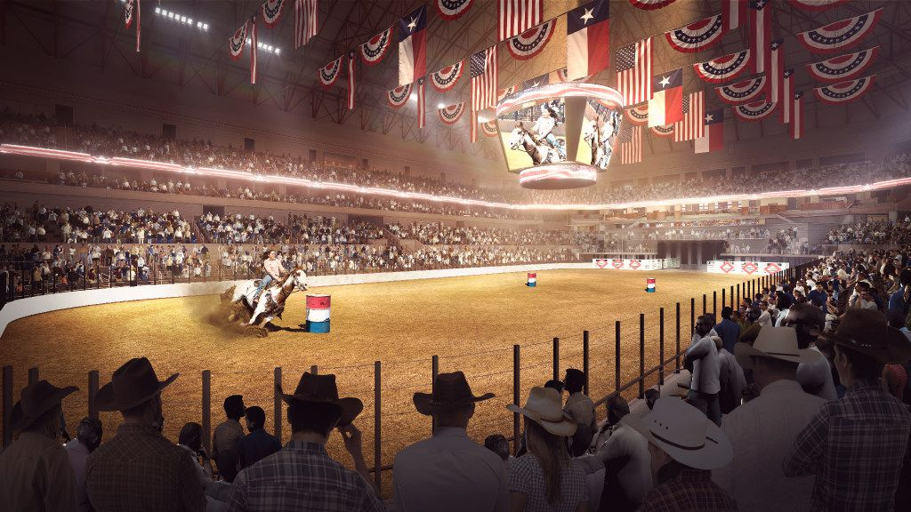 Rendering of a rodeo inside the new Multipurpose Arena Fort Worth scheduled to open in 2019.