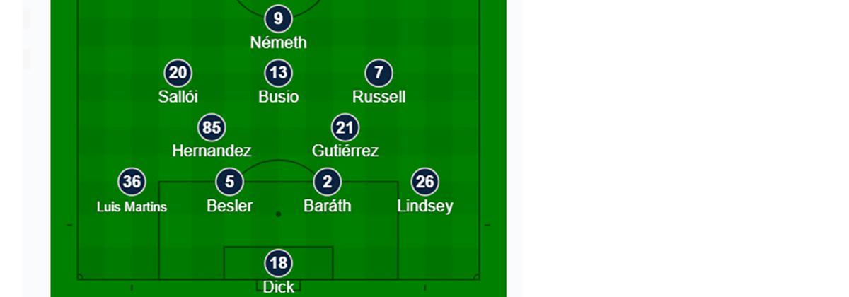 The Sporting KC starting XI at FC Dallas. (10-6-19)