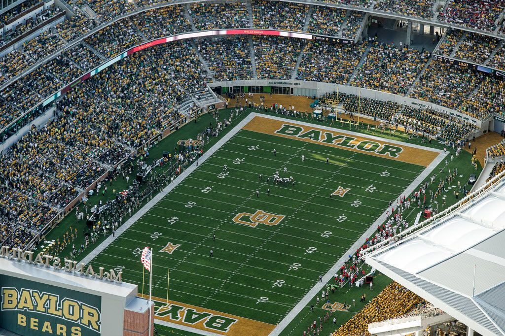 Baylor University fans packed McLane Stadium during the inaugural game against Southern Methodist University in Waco on Sunday, August 31, 2014.
