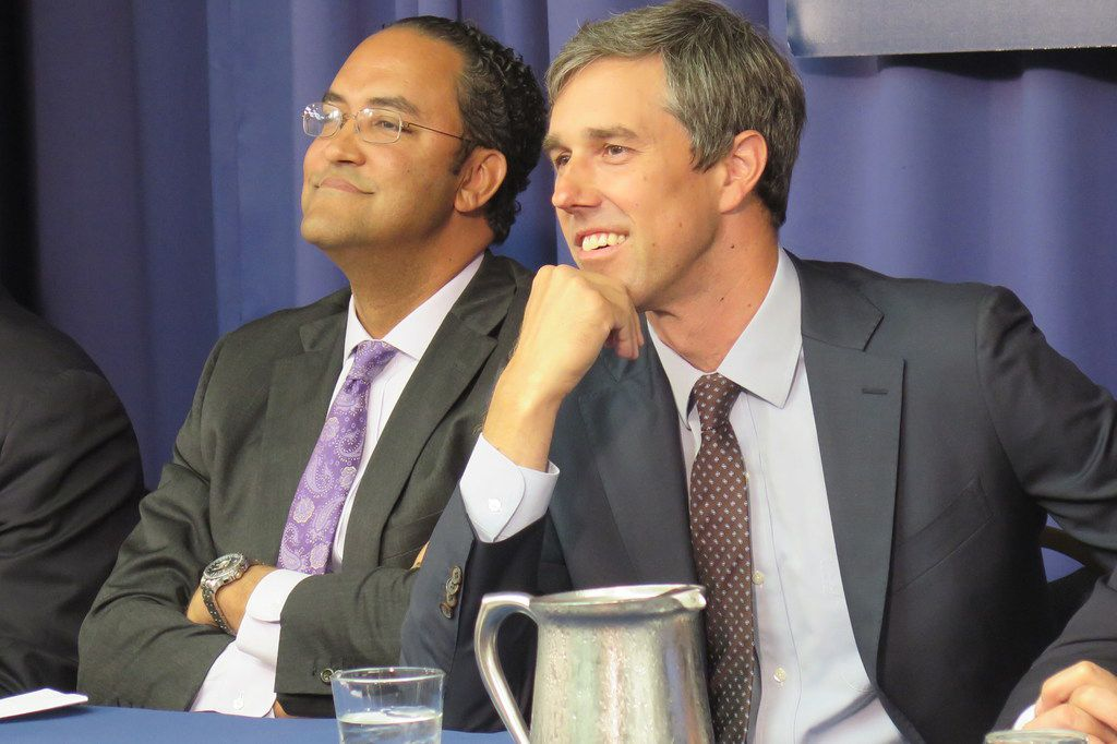 Rep. Will Hurd, left, a San Antonio-area Republican and Rep. Beto O'Rourke, D-El Paso, received an award for civility in public life on July 17, 2018, from Allegheny College. The ceremony took place at the National Press Club.