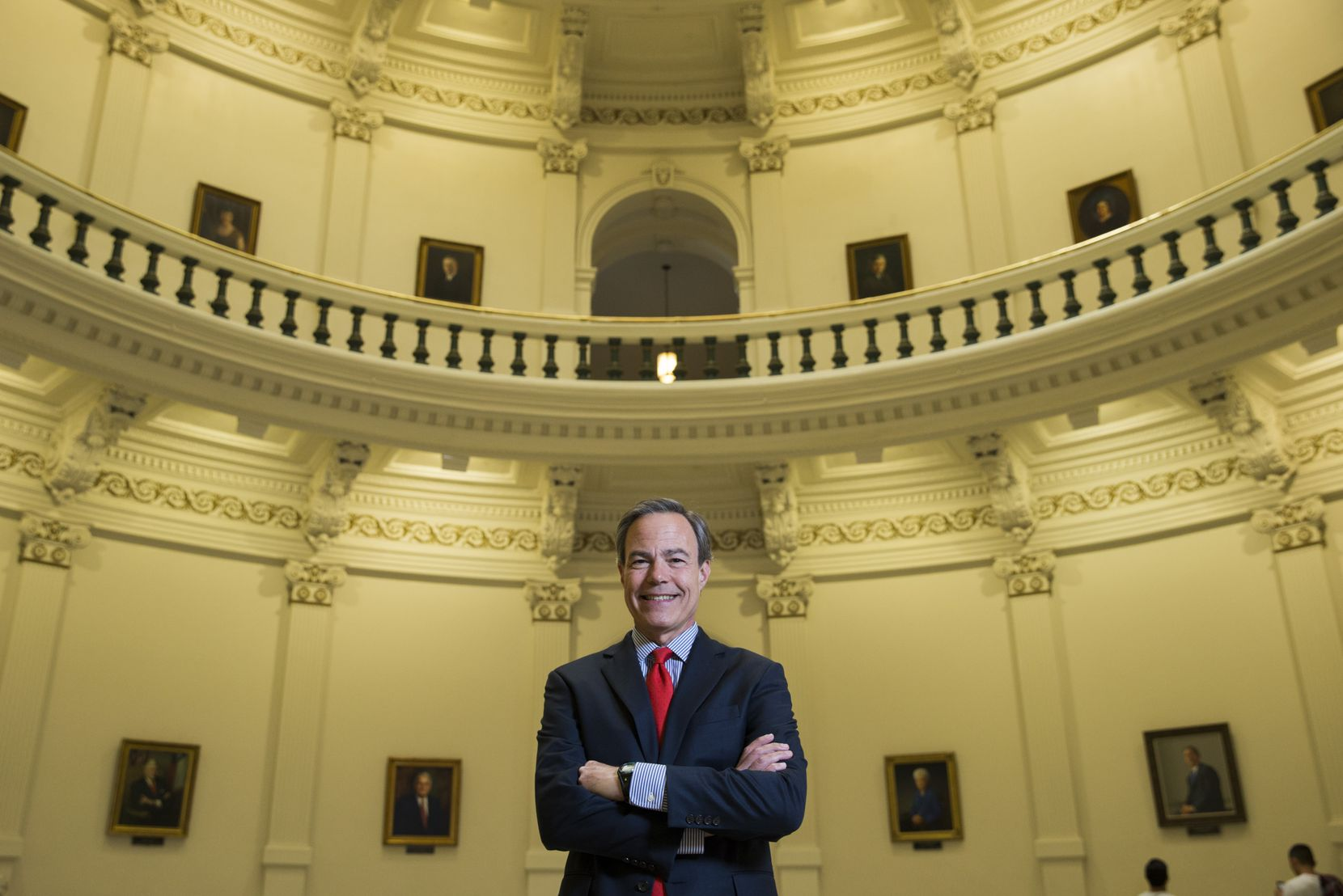 Texas Speaker of the House Joe Straus poses for a portrait in the rotunda of the Texas state capitol on Monday, December 11, 2017 in Austin.