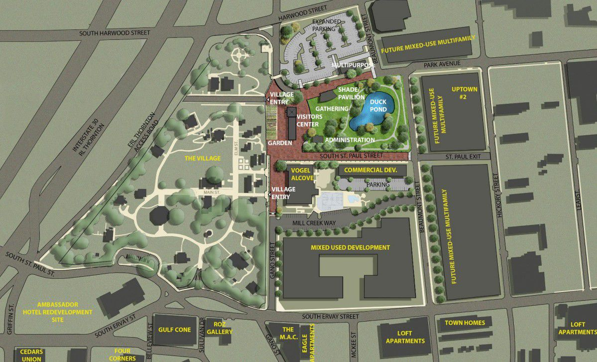 The possible next phase of Dallas Heritage Village as presented to the Dallas Park and Recreation Board last week.
