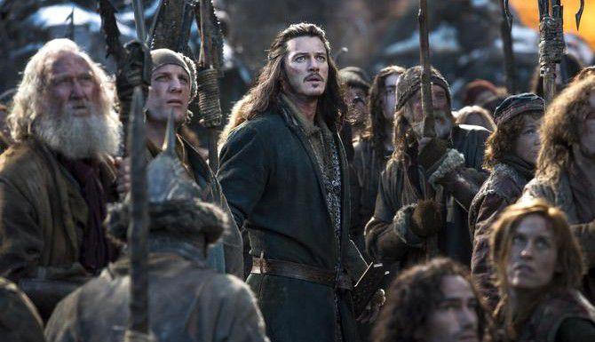 "Luke Evans, el cazador de dragones, en ""The Hobbit: The Battle of the Five Armies"". (AP/WARNER BROS.)"