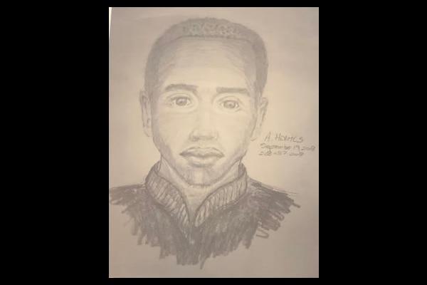Un sketch del sospechoso de violar a tres mujeres. CORTESÍA