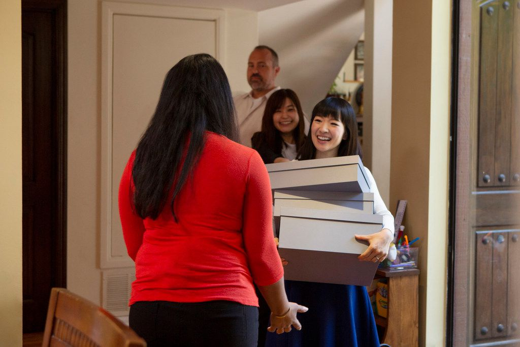 The new series sees Marie Kondo's methods put to the test in different California homes.