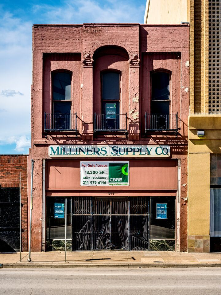 One of the possibly endangered downtown Dallas low-rise buildings on the list (Photo by Michael Cagle)