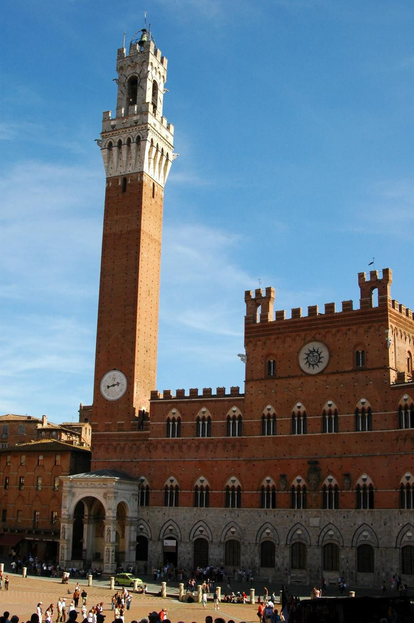 Strolling around the Piazza del Campo is a favorite pastime in Siena.
