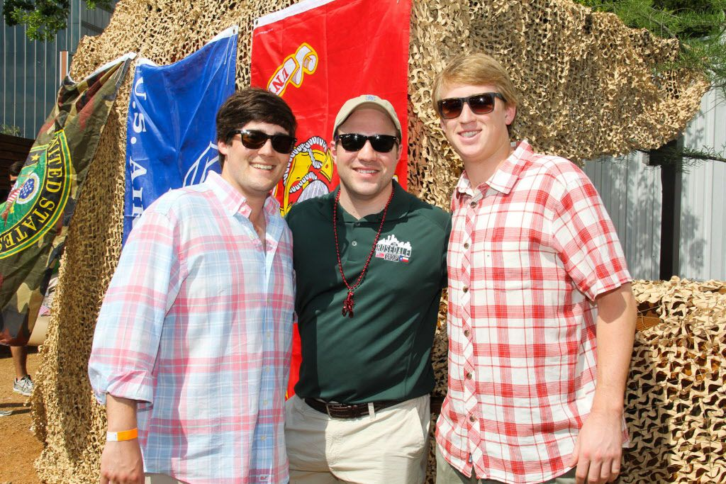 Kevin O'Boyle, Will Shaddock and Chase Prospere at the 6th Annual Boil for the Brave crawfish boil by The Rosedale Group benefitting Veterans Rehabilitation program was held at The Rustic in Uptown on April 18, 2015