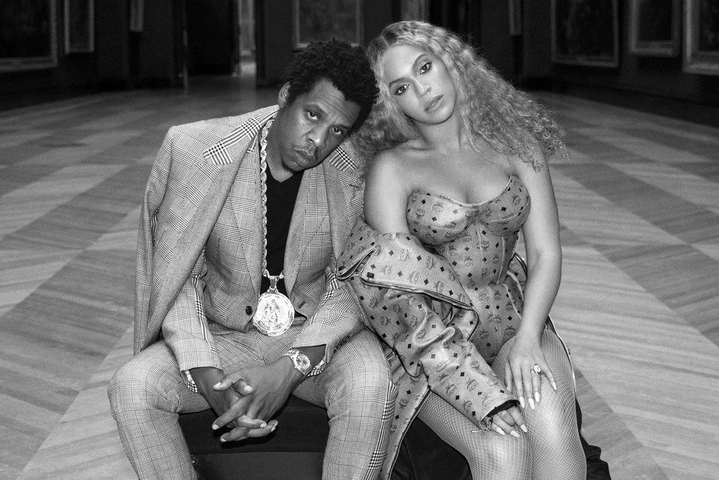 """Beyonce and Jay-Z in a scene shot in The Louve museum in Paris, France, for a video for the couple's surprise joint album """"Everything Is Love."""""""