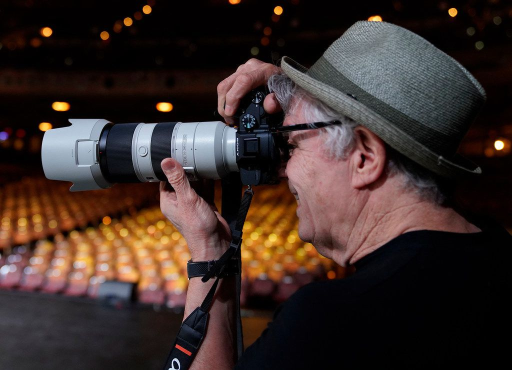 Steve Miller of the Steve Miller Band shoots photographs with a Sony A7RIII after his sound check at the Majestic Theatre in San Antonio, Texas, Wednesday, July 25, 2018. Steve is currently on his 50th Anniversary Tour and will perform at Allen Event Center in Allen on Friday, July 27, 2018. (David Woo Photo)