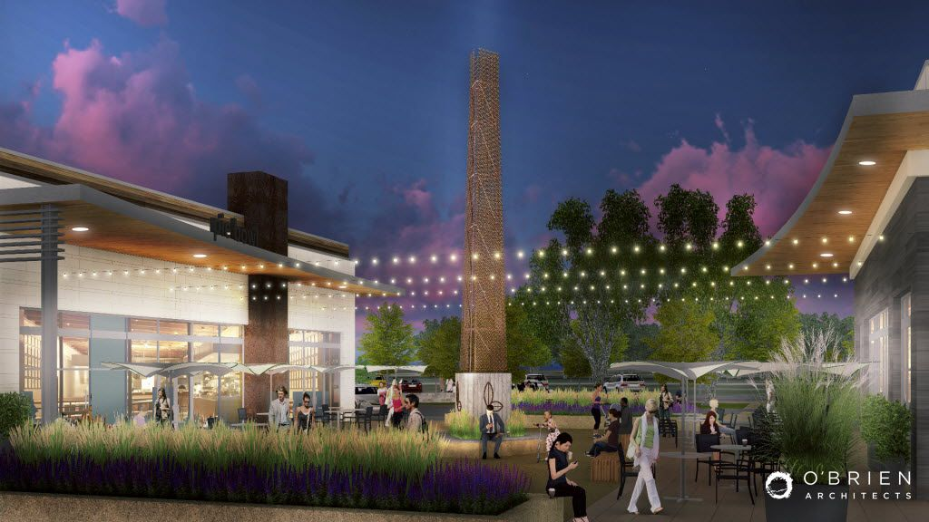 The Lake Highlands Town Center shopping center will include several outdoor plaza areas.