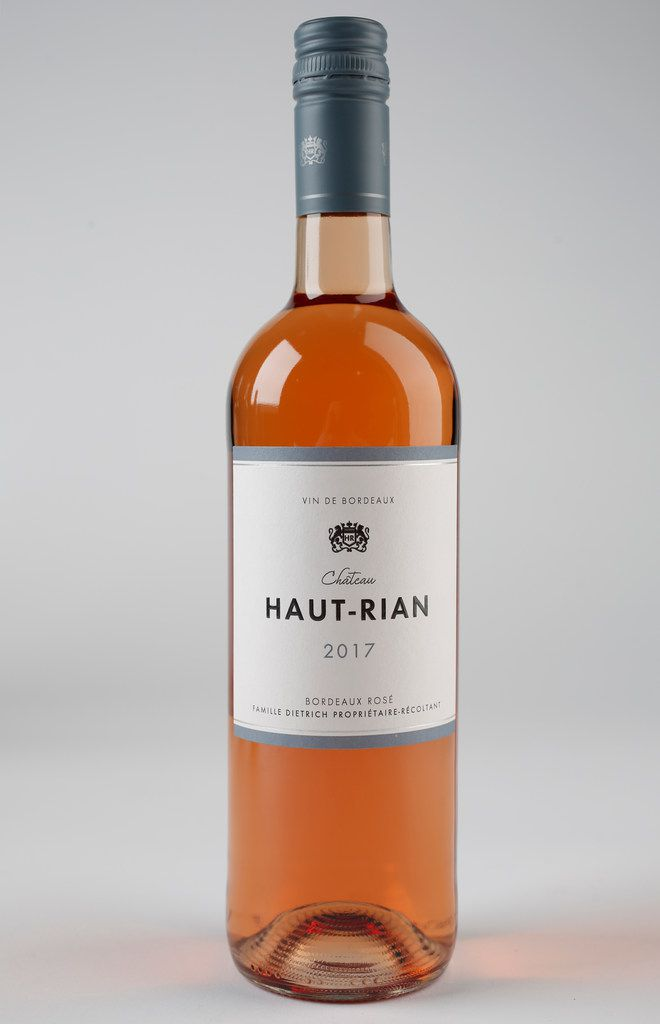 Chateau Haut Rian Bordeaux Rose photographed in The Dallas Morning News studio in Dallas on Tuesday, Oct. 2, 2018. (Rose Baca/The Dallas Morning News)
