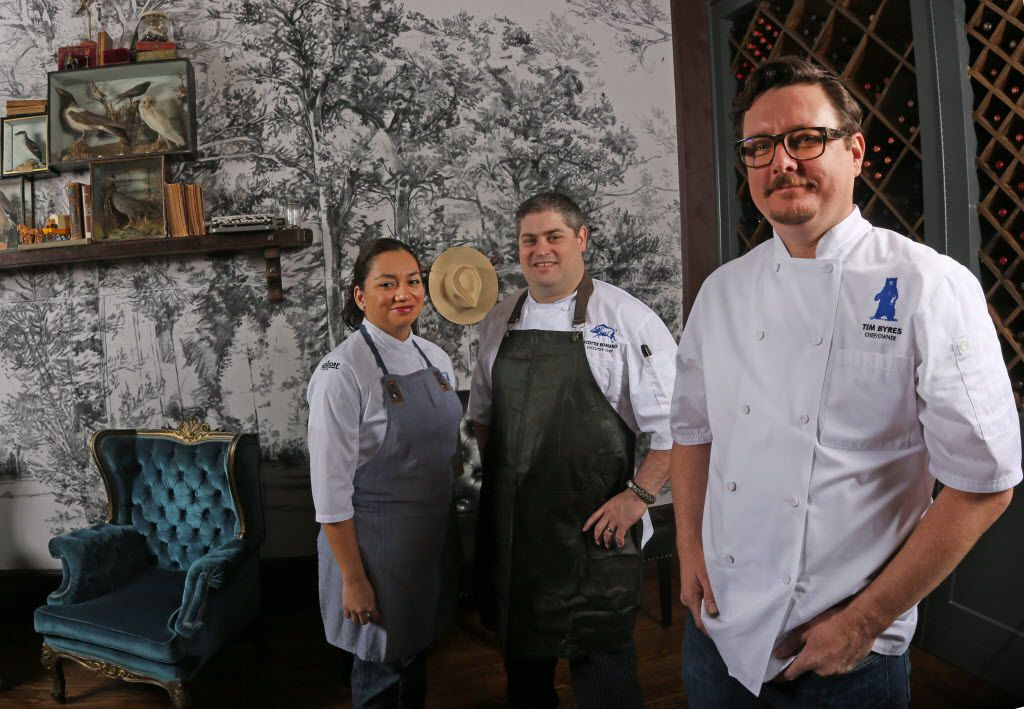 From left: executive pastry chef Marlene Duke, executive chef Scott Romano and chef-owner Tim Byres (Louis DeLuca/The Dallas Morning News)