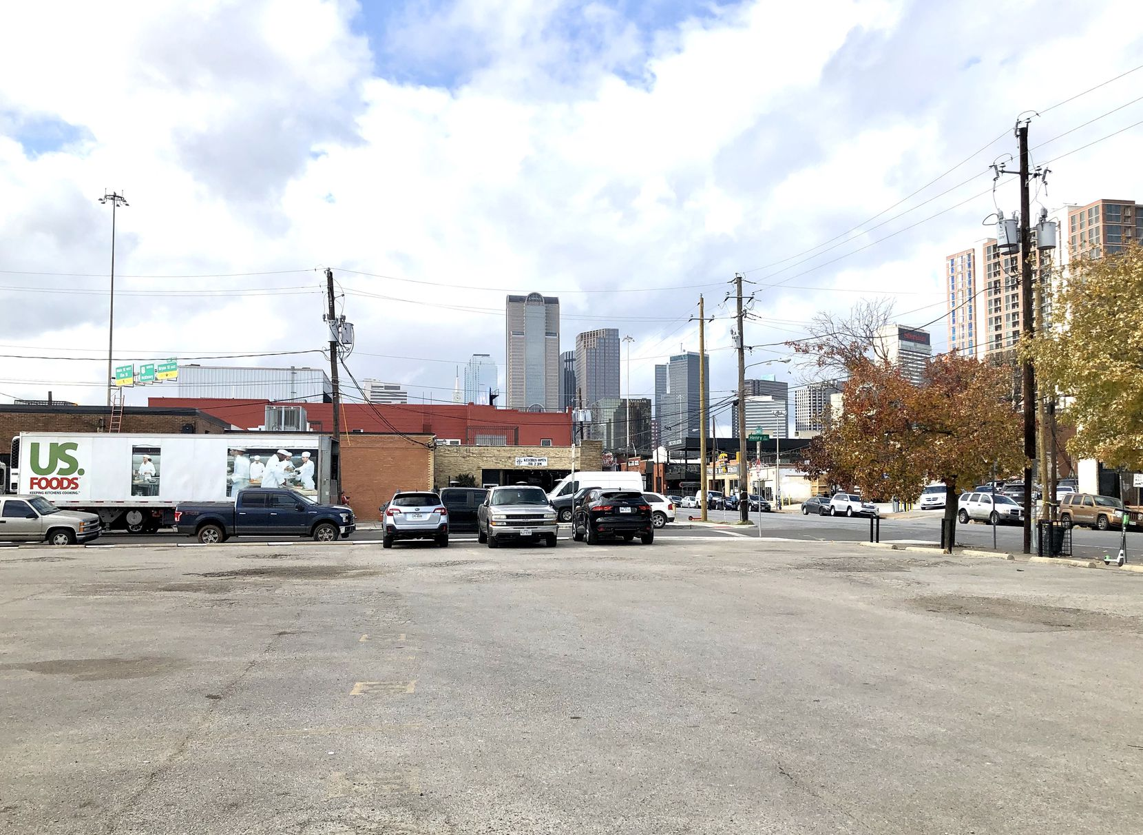 The building site is now a parking lot on Commerce Street east of downtown.