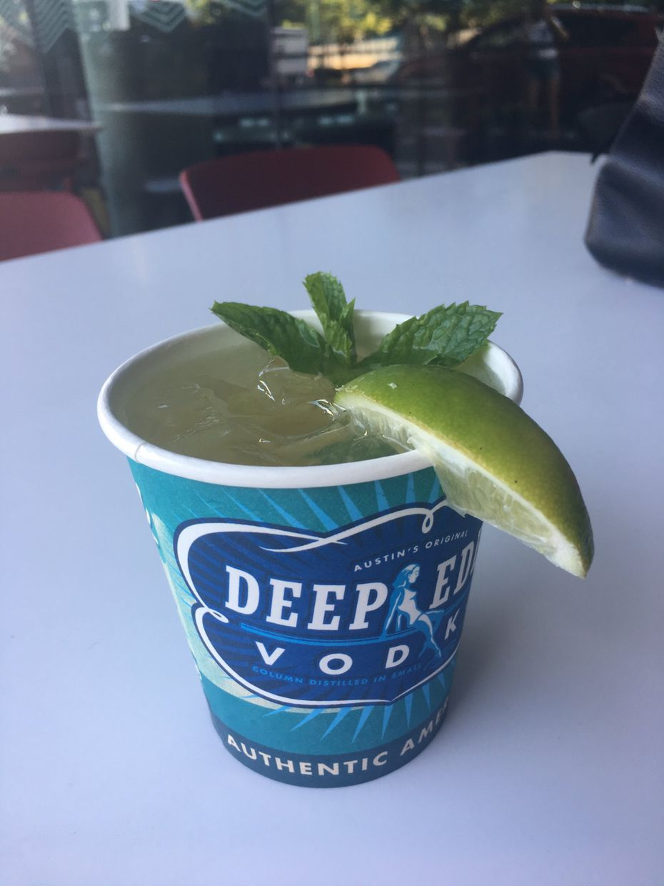 The Give A Shih-Tzu cocktail -- made with Tito's Vodka, lemon, pineapple, mint and soda -- is $10, with part of the proceeds benefiting the SPCA of Texas.