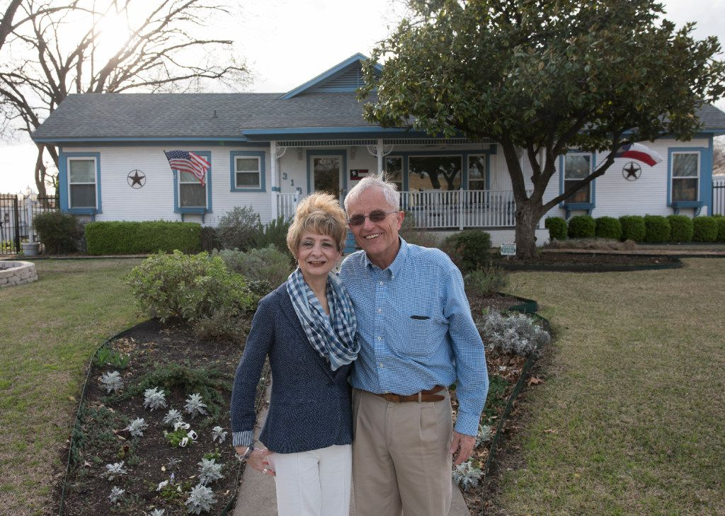 Kay Moore and her husband, Louis, have lived in their 1913 Craftsman home for 17 years.  The couple's research and preservation efforts have led to the two-block street of Craftsman-style houses in Garland being added to the National Register of Historic Places.