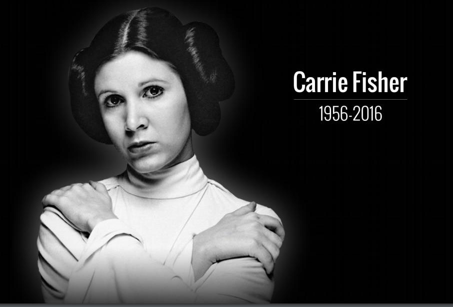 Carrie Fisher, quien fue conocida por su papel de la princesa Leia Organa en Star Wars, falleció a los 60 años de edad, informó People./AGENCIA REFORMA