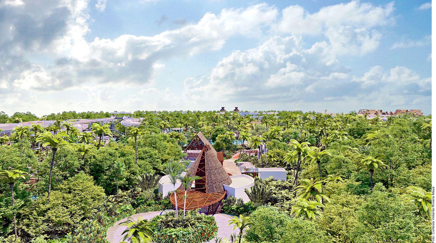 El parque boutique Jungala Luxury Waterpark, ubicado dentro del complejo Vidanta Riviera Maya, en Playa del Carmen, Quintana Roo, contará con 10 atracciones en las que niños, familias completas y aventureros encontrarán opciones para cada quien. (AGENCIA REFORMA)