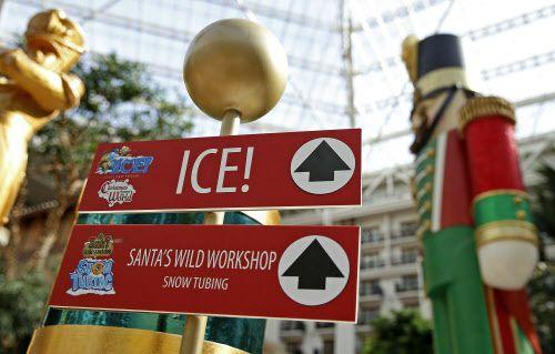 La exhibición navideña ICE! se inaugura el viernes en el Gaylord Texan Resort de Grapevine. Foto DMN