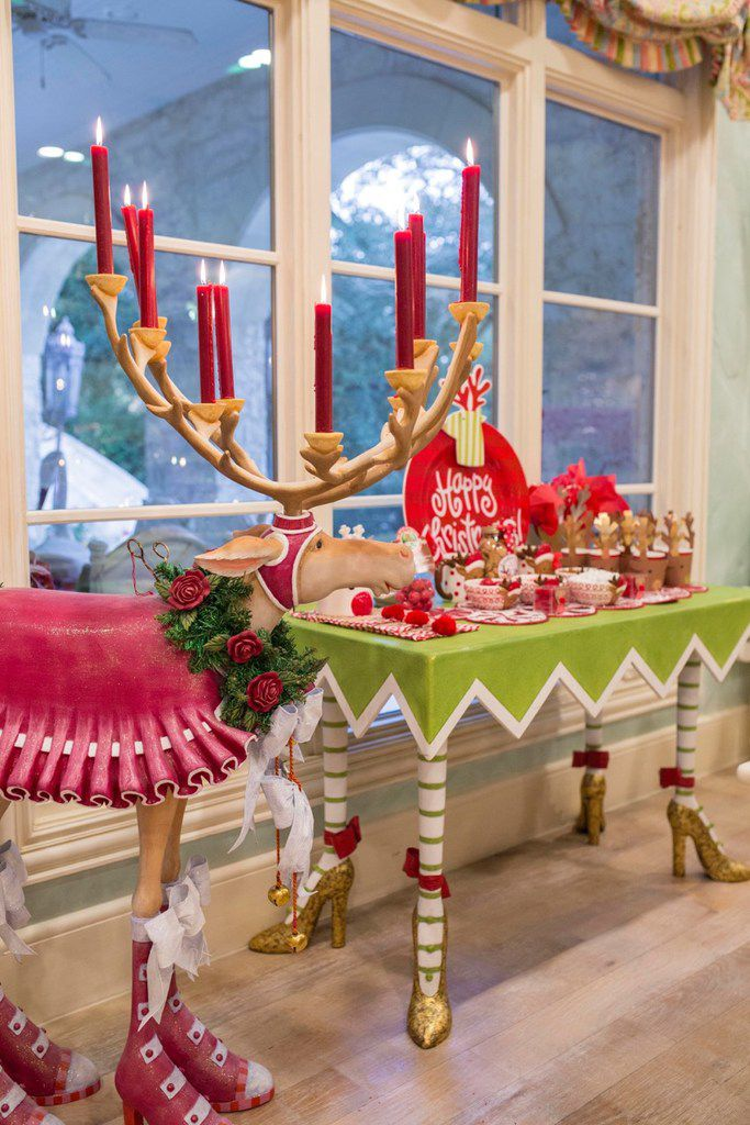 This reindeer in the breakfast room at Jennifer Houghton's home in University Park comes with a crown of candles.