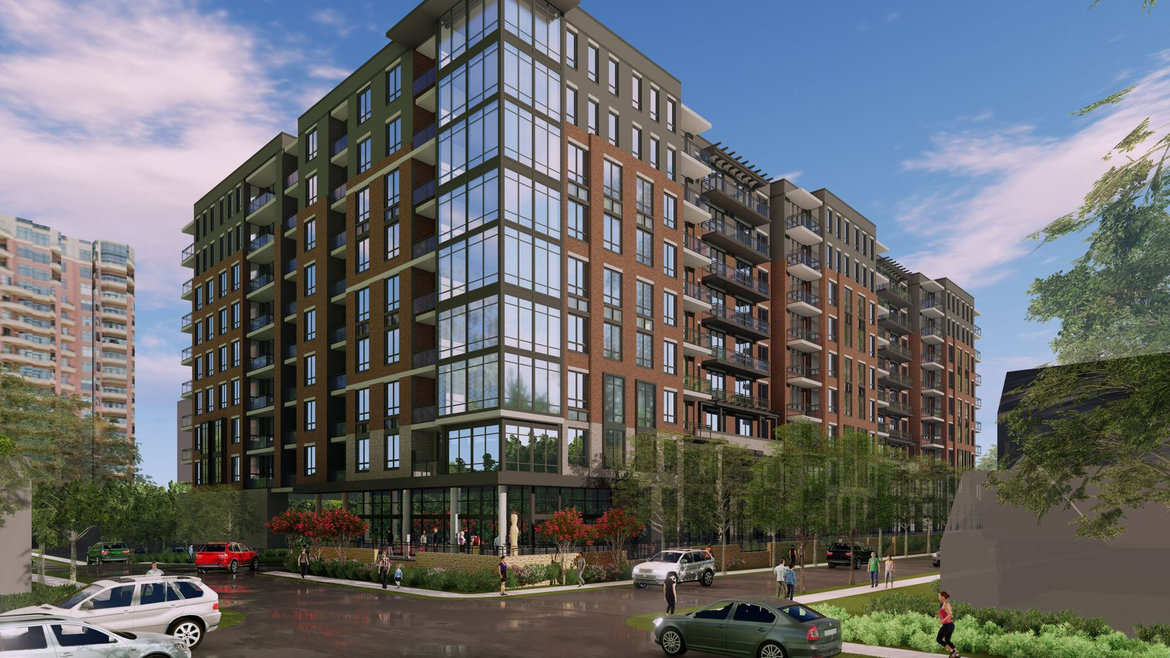 Toll Brothers is studying plans for a 9-story apartment building near Turtle Creek.