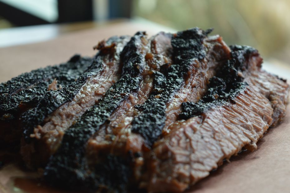"""We're going to keep it straight: just a salt and pepper rub,"" says executive chef Chad Kelley of his brisket at Bumbershoot Barbecue."