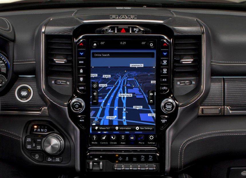 Ford's move is intended to counter the Dodge Ram's 12-inch touch screen.
