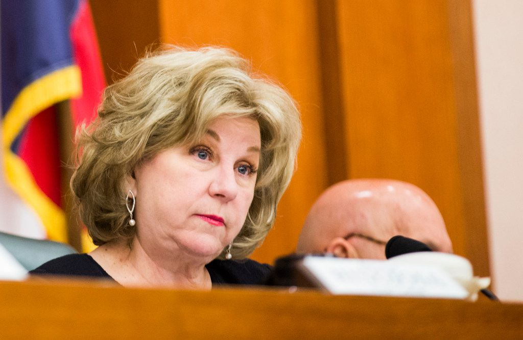 Senate Finance Committee Chairwoman Jane Nelson, R-Flower Mound, touted Tuesday how her chamber's budget would give teachers and school librarians a $5,000 pay raise. She is shown at a Feb. 25 hearing.