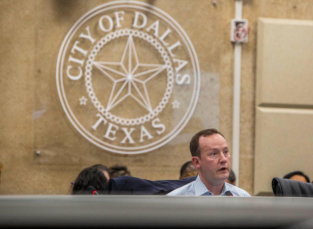 Philip Kingston a Dallas City Hall in February 2019