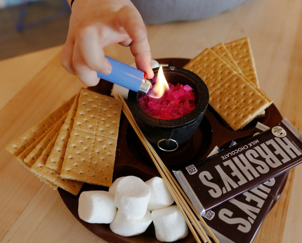 The S'mores Platter available at the Halcyon Coffee Bar and Lounge photographed on Tuesday March 28, 2017. The new coffee bar and lounge is located at 2900 Greenville Ave. in Dallas.